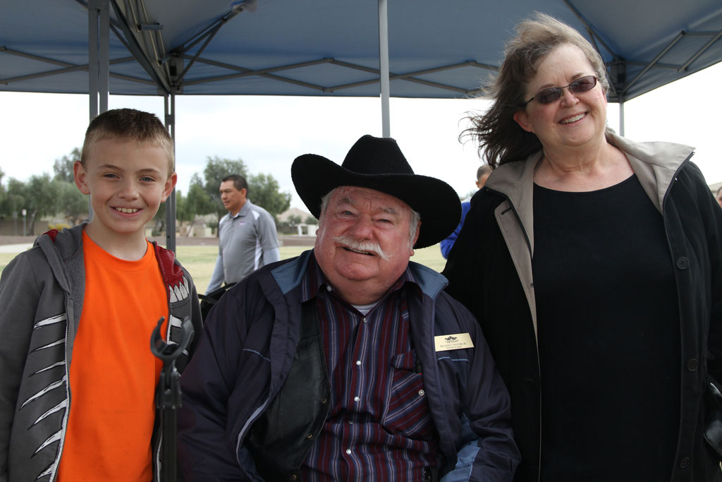 CM Winters with citizens at Surprise Farms Park Groundbreaking