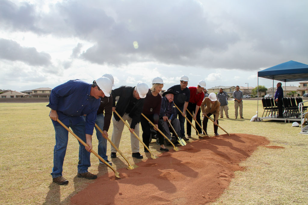Breaking ground at Surprise Farms Park