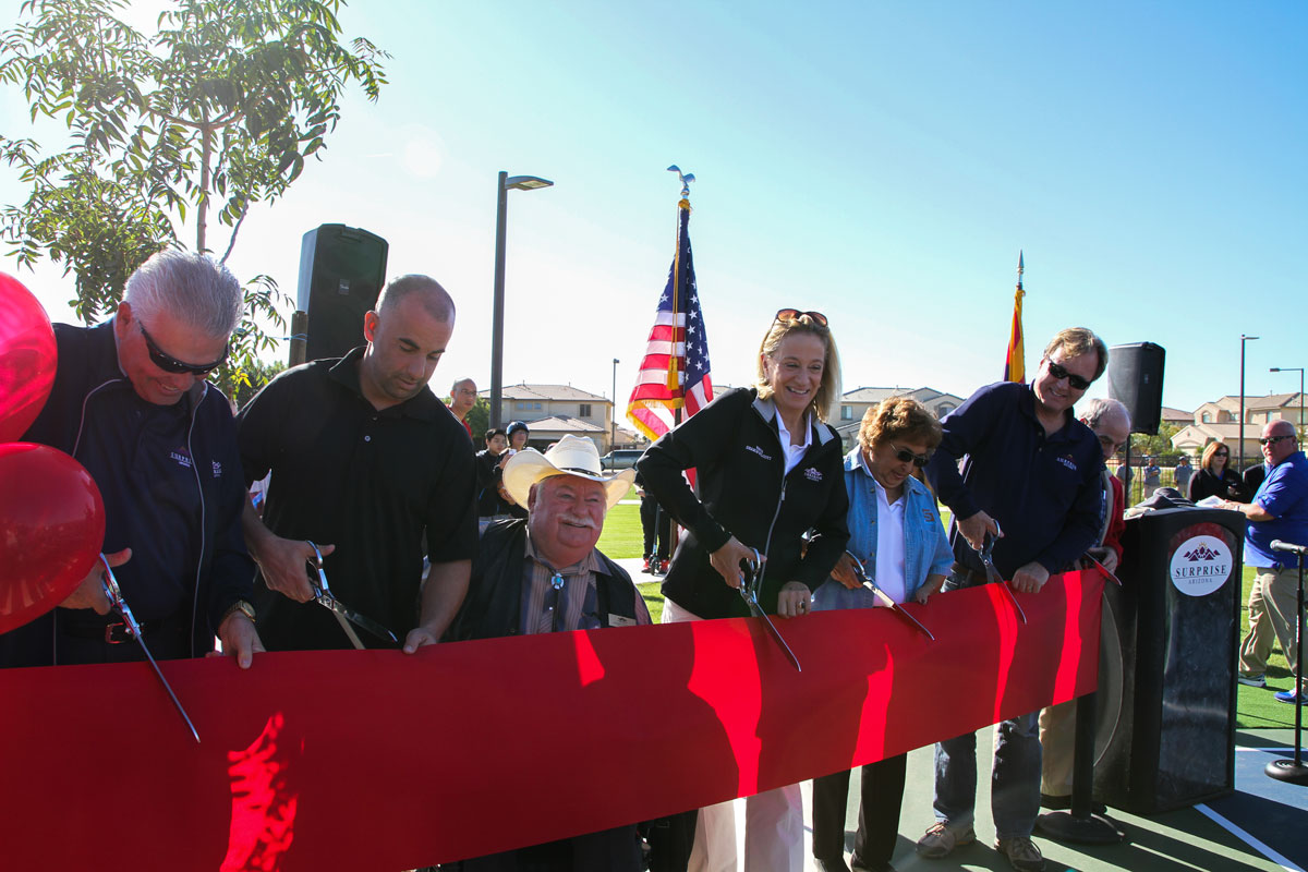 Ribbon cutting ceremony at Surprise Farms park on Saturday, November 14.