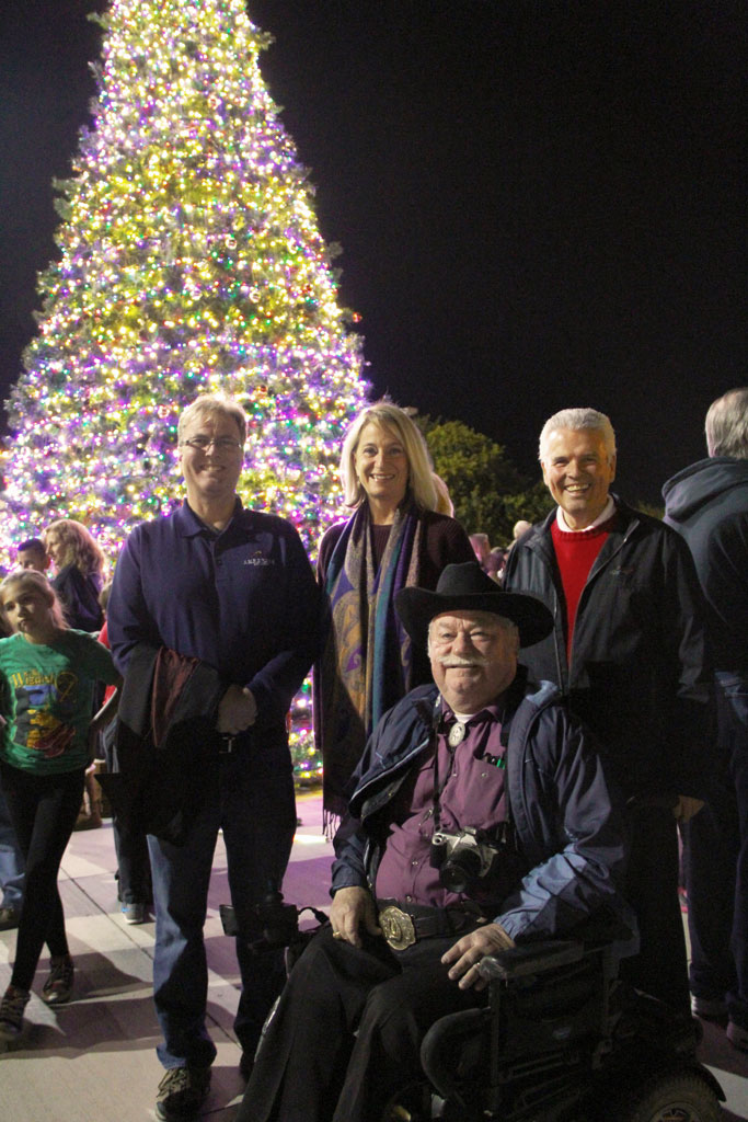 Surprise City Councilmembers light tree for the holidays