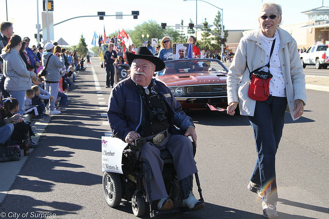 CM Winters at Veterans Parade 2015