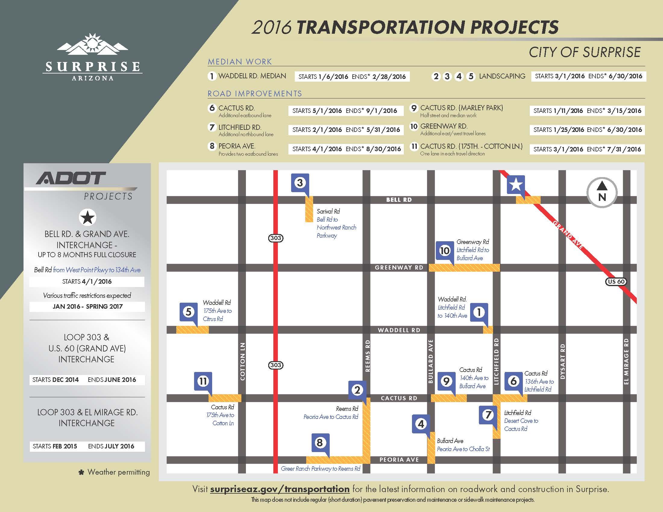 2016 Transportation Projects Map
