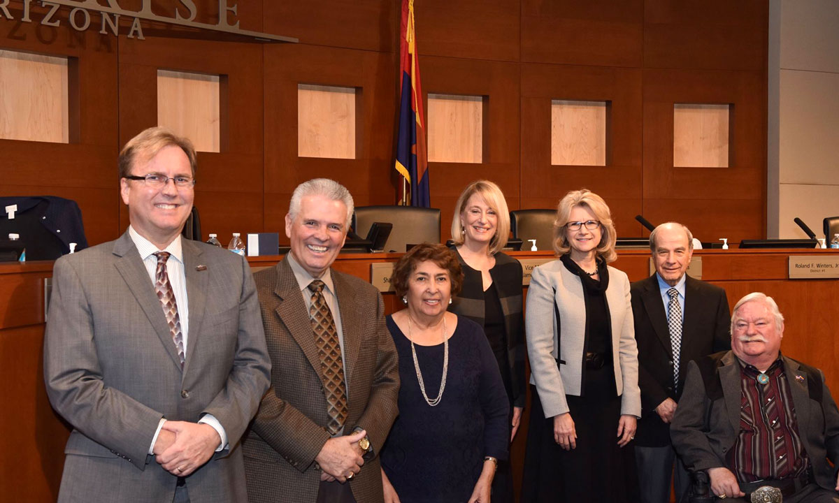 Surprise City Council with Arizona Superintendent of the Year Dr. Gail Pletnick