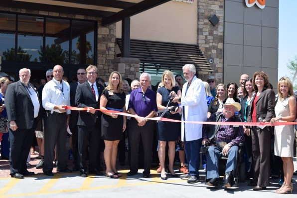 Members of Dignity Health and Surprise City Council at new ER facility for ribbon cutting