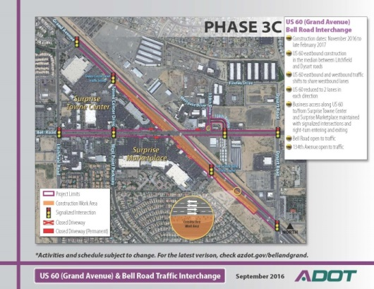 ADOT Map of Bell Rd and Grand Ave