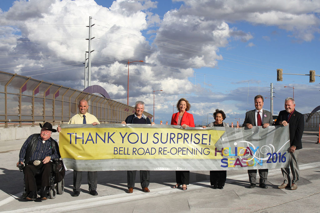 reopening of Bell Road