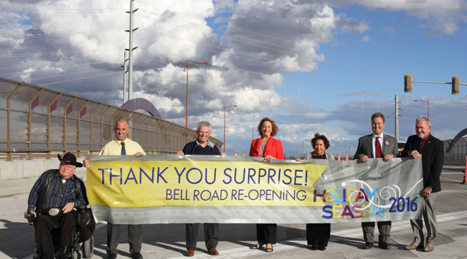 City celebrates reopening of Bell Road