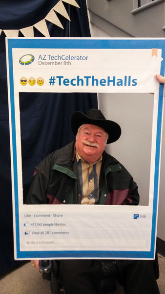 Councilmember Winters at Tech the Halls event