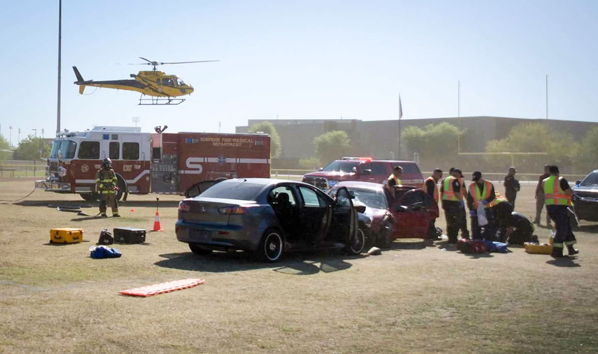Drunk/Distracted Driving Mock Crash
