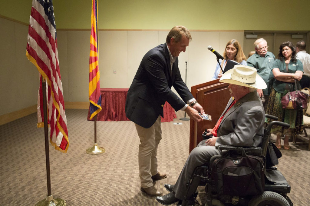 Arizona Senator Jeff Flake with Surprise Councilmember Roland F. Winters Jr.