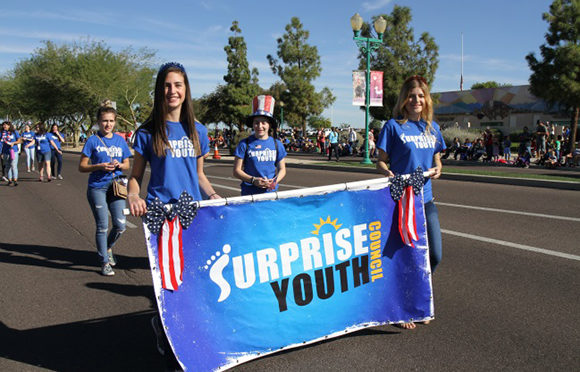 Surprise youth Council attending at the 2017 Veterans Day Parade