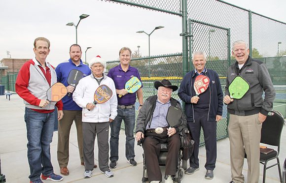 Vice Mayor Tande, Councilmembers Hall, Duffy, Remley & Winters at the new Pickleball Courts Grand Opening