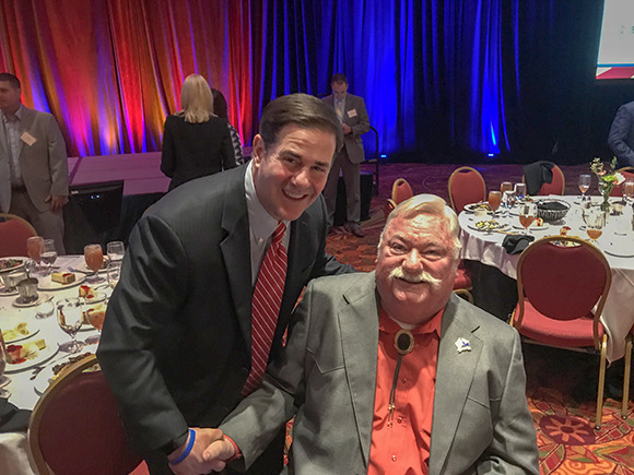 Councilmember Roland Williams with Governor Doug Ducey at the Governor's State of the State