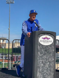 Surprise Stadium event - Mayor Wolcott's Welcome Back Luncheon for the Kansas City Royals and Texas Rangers.