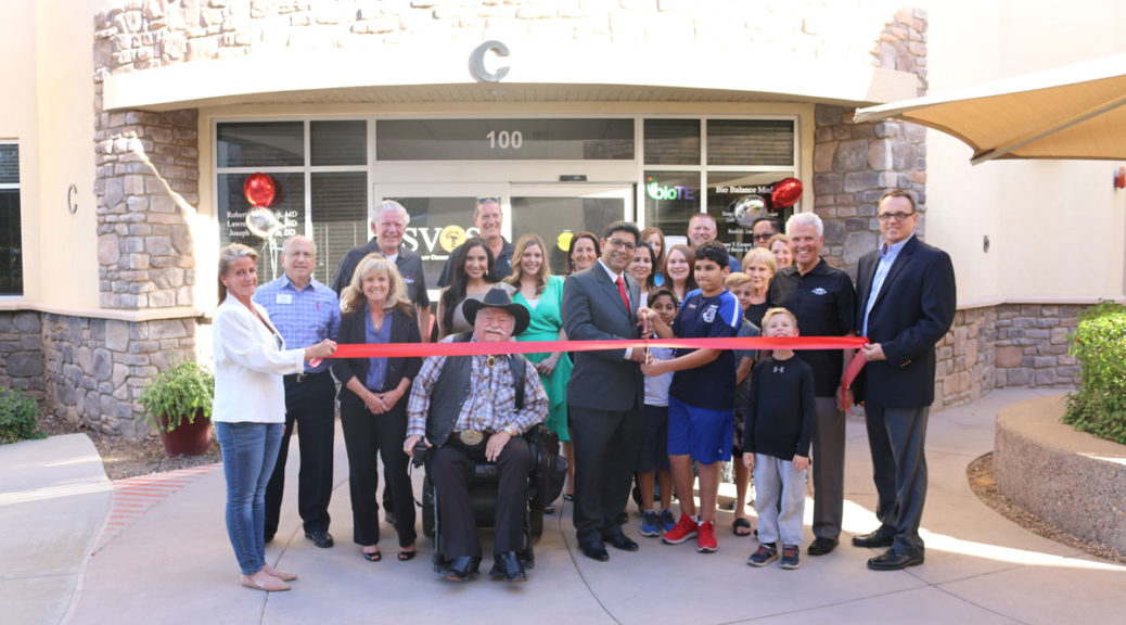 Councilmember Winters and Pinnalce staff cutting ribbon