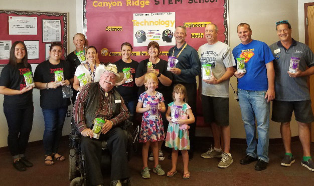Rotary Club of Surprise donated wireless mics to Canyon Ridge Elementary School