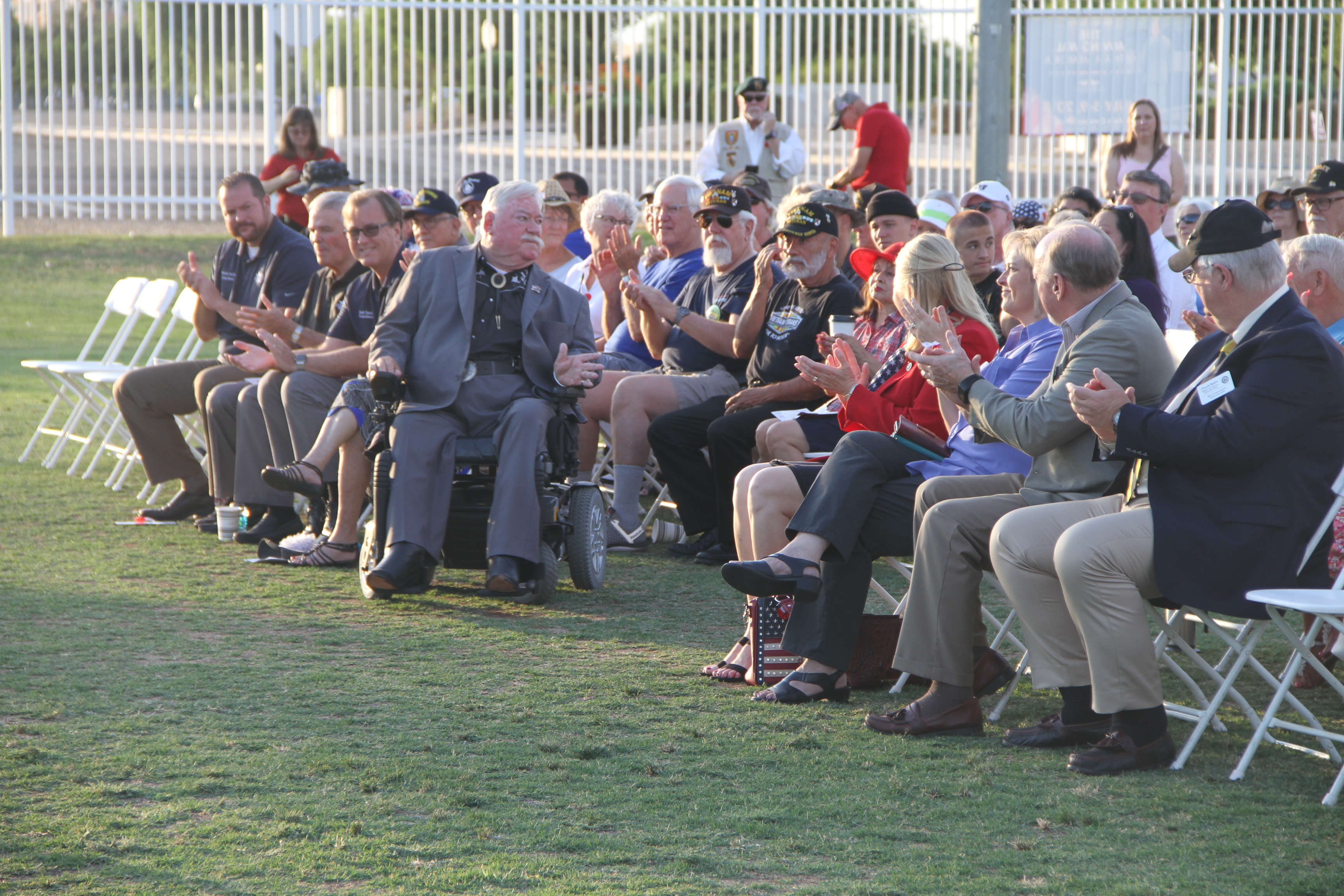 City Councilmembers attending the Vietnam Veteran Memorial Wall