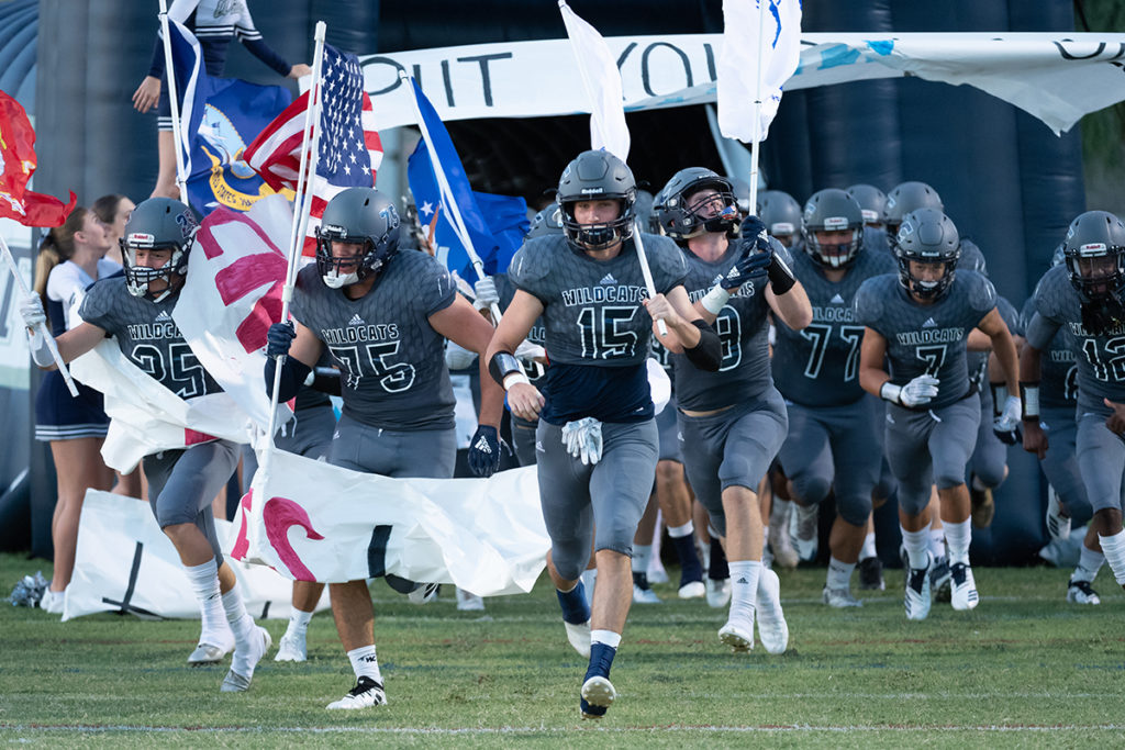 Willow Canyon Football Military September 2018