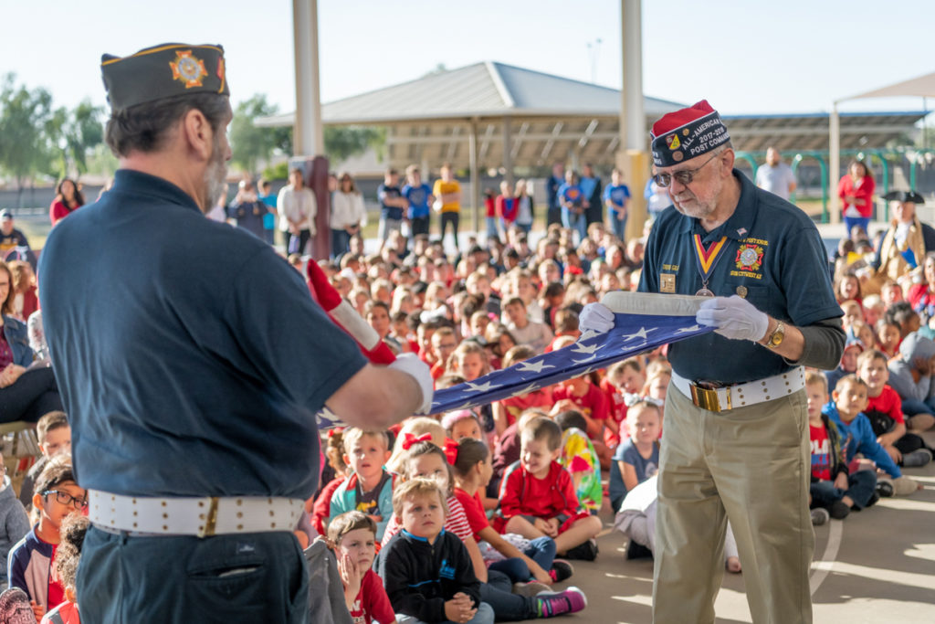 Veterans Day celebration at Canyon Ridge Elementary School