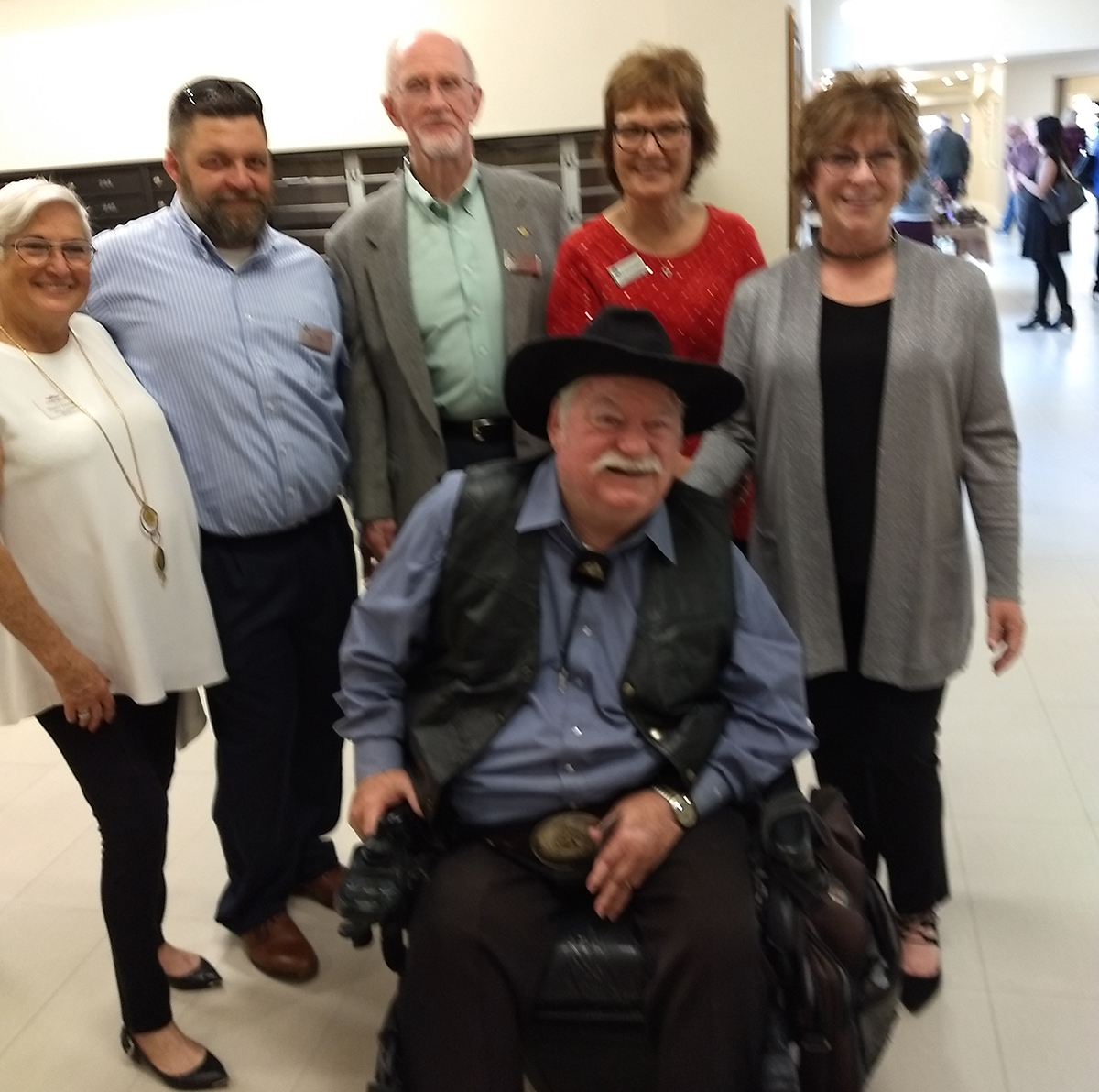 Surprise Vice Mayor Roland Winters and Surprise Councilwoman Nancy Hayden at Fellowship Square with Jay Trottier, Facilities Manager, John Norris, Executive Vice President, Kathy Loscheider, Excutive Director and Lori Wilson, Marketing Director