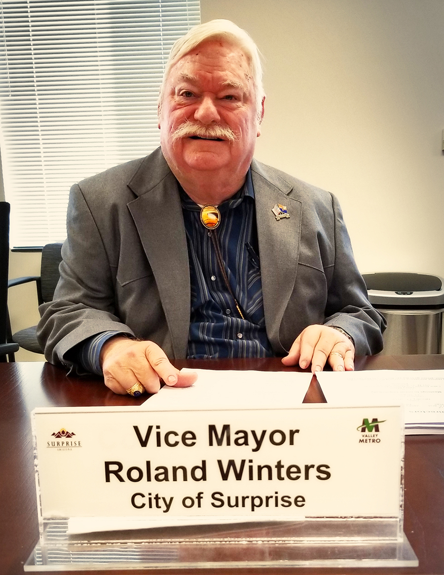Vice Mayor Winters at the Valley Metro Meeting