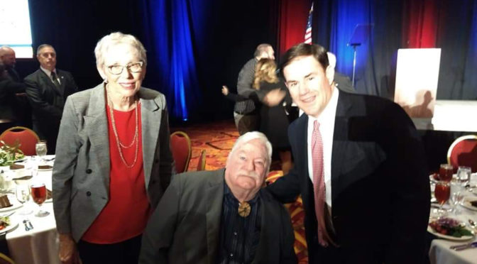 Vice Mayor Winters and wife with Governor Doug Ducey at the State of State address