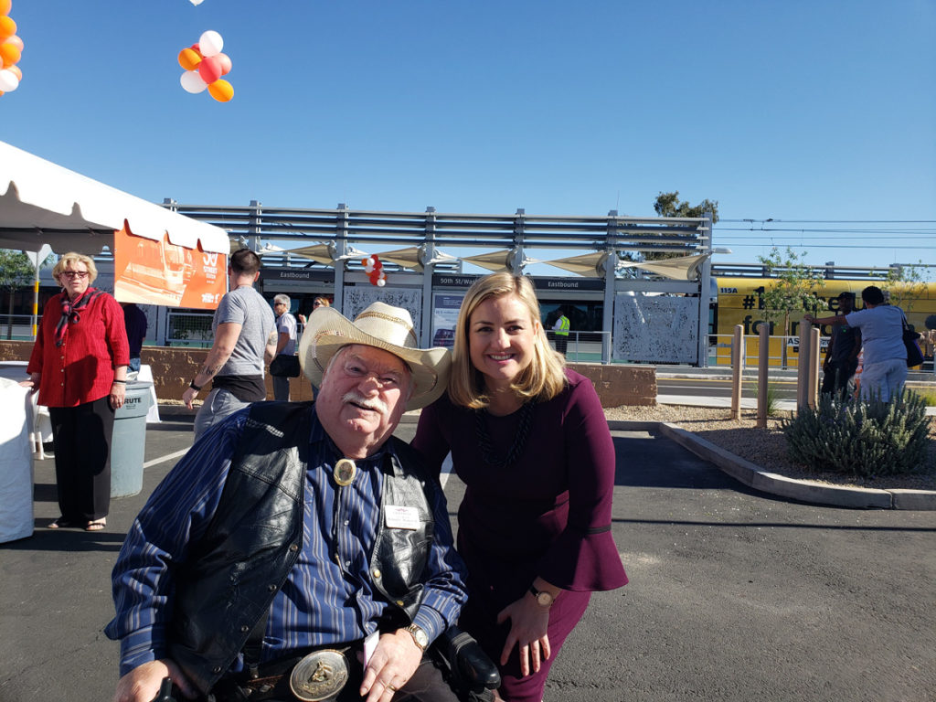 Vice Mayor Roland Winters and Phoenix Mayor Kate Gallego