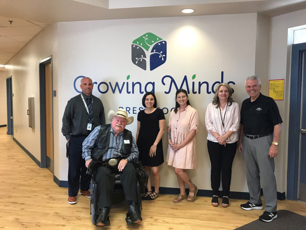 Council member and staff of Growing Minds facility