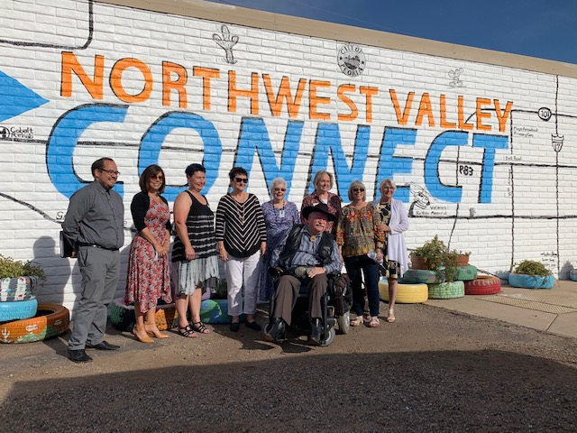 mural painted on the wall of the Northwest Valley Connect building
