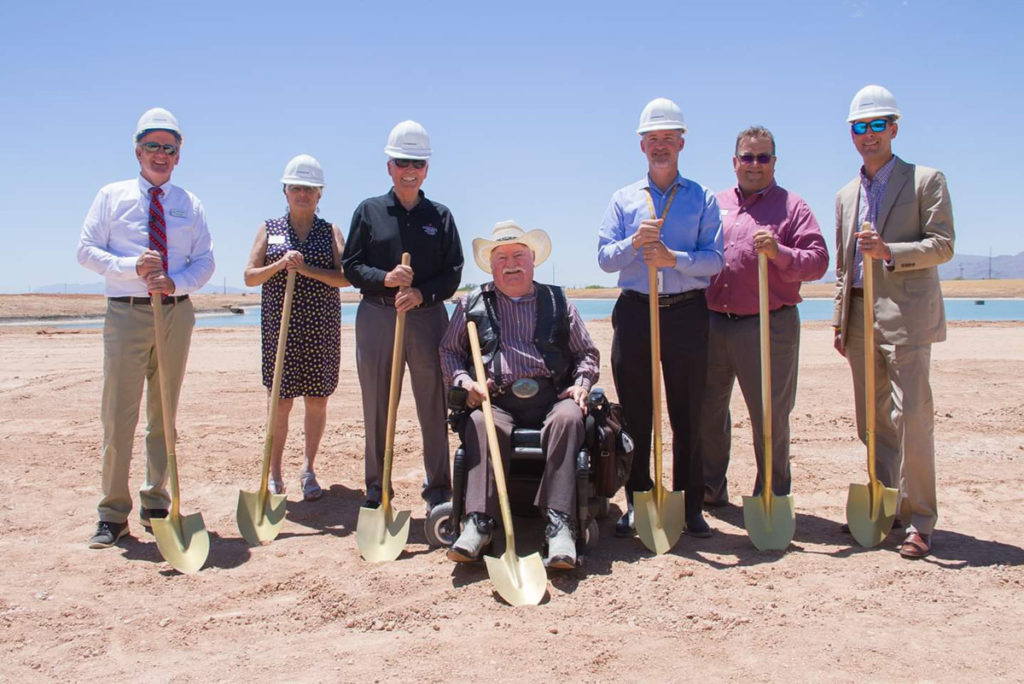 Vice Mayor Winters and Councilmembers at the Heritage at Asante ground breaking ceremony.