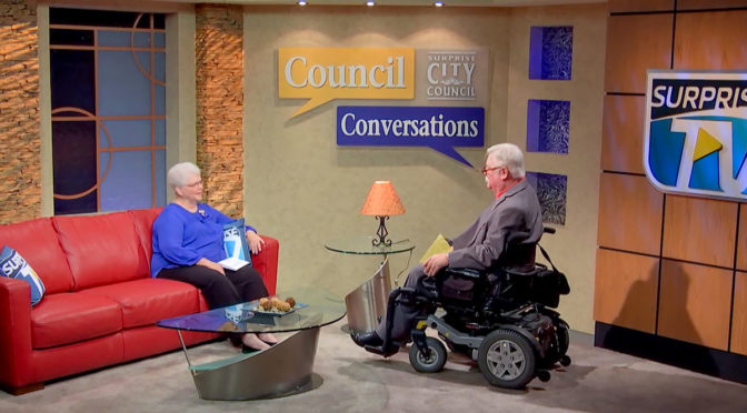 Vice Mayor Roland F. Winters Council Conversations Jr. on the set of