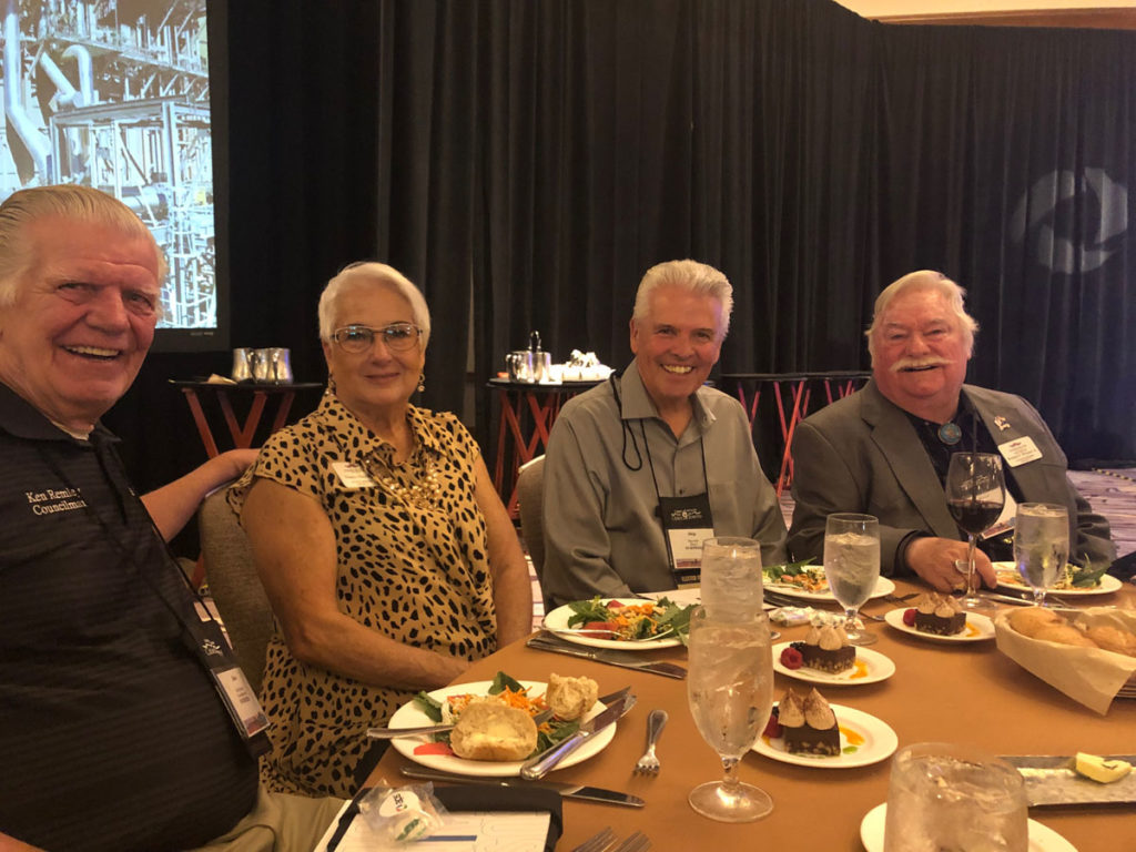 Councilmembers Ken Remley, Nancy Hayden, Mayor Skip Hall and Vice Mayor Roland Winters at the League of Cities and Towns Conference.