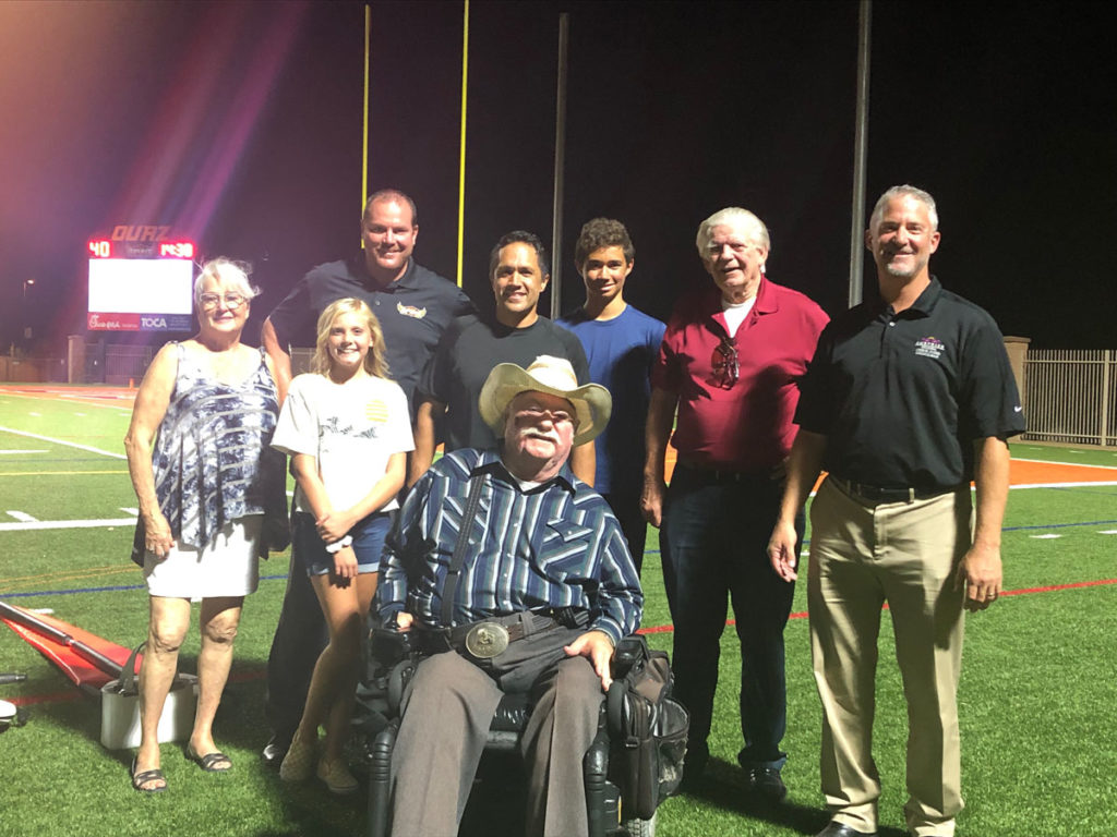 Vice Mayor Winters and Councilmembers attending the Ottawa University game at their home football stadium on Tierra Buena.