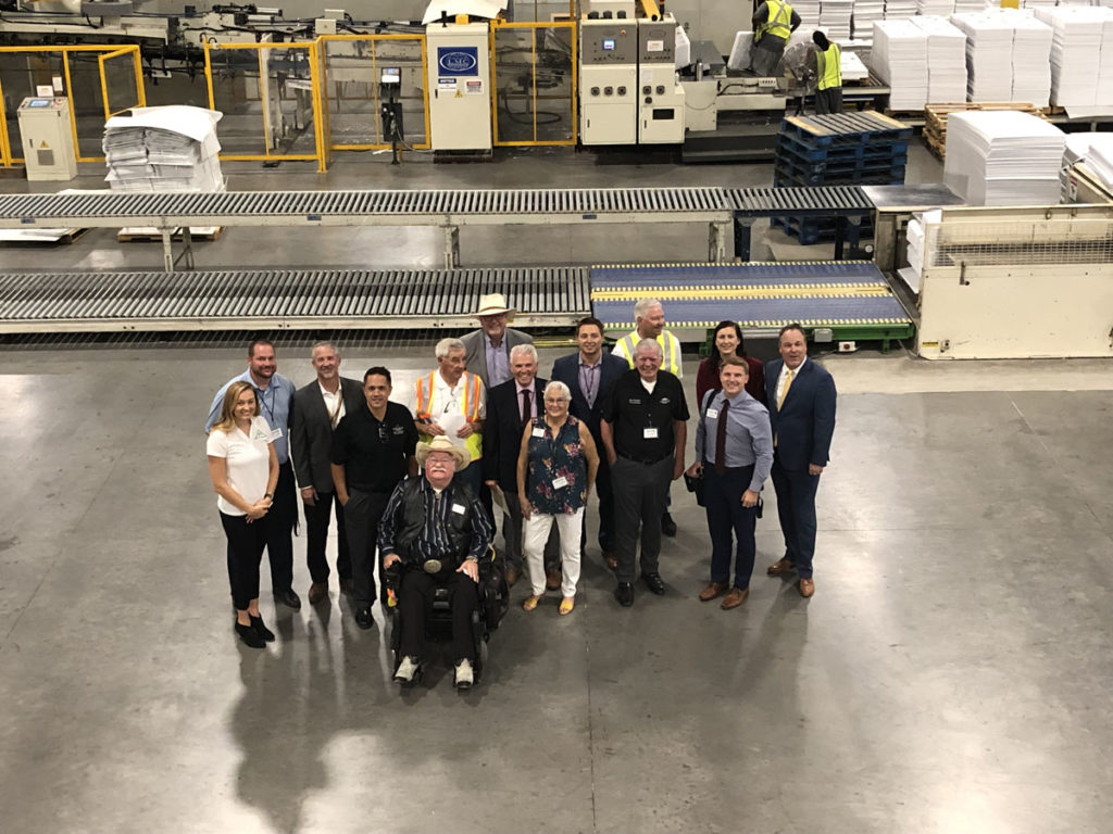 Surprise City Council tour the SeaCa Packing facility.