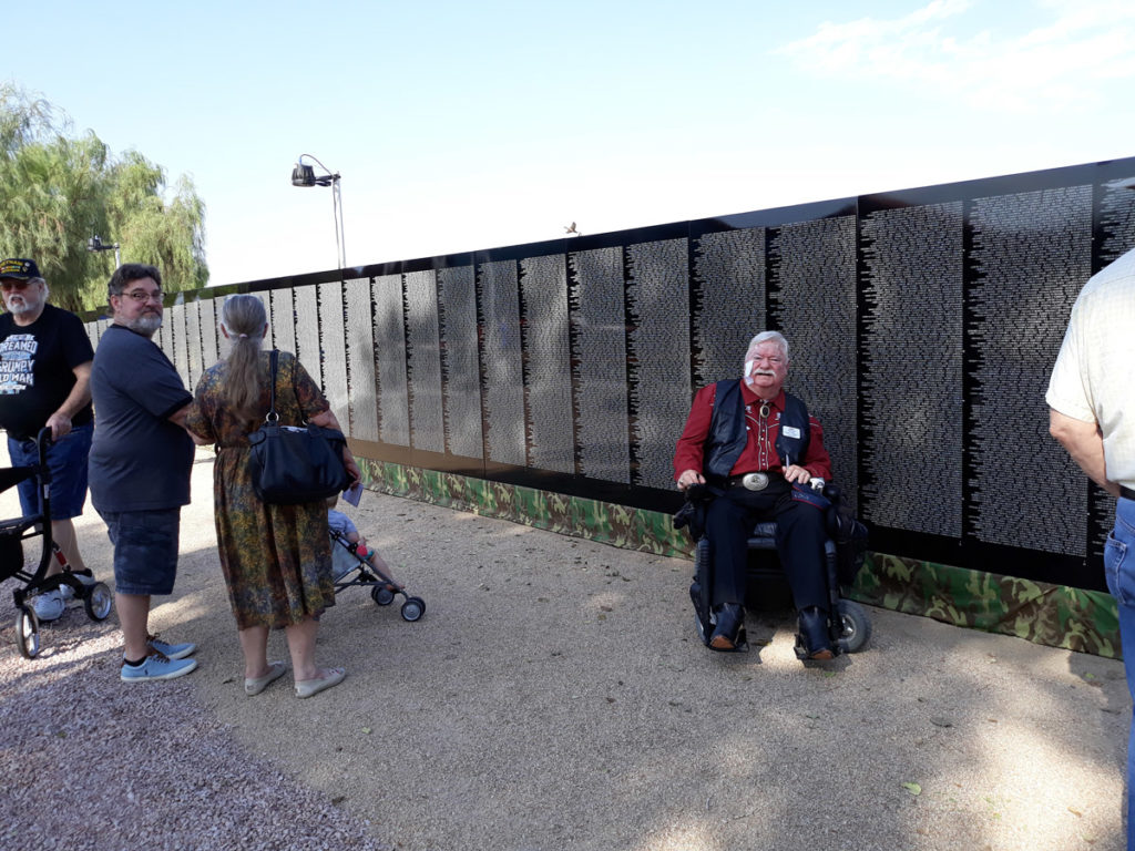 Vice Mayor Winters at the Vietnam Moving Wall at Rio Vista Park.