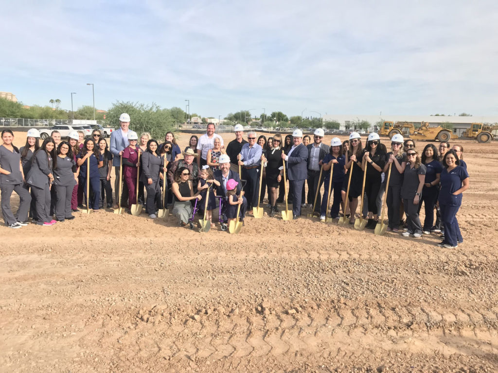 Auviana Medical Development staff prepare to break ground at the new site in Surprise.
