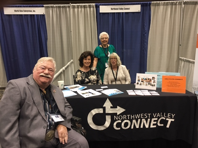 Vice Mayor Winters at the Northwest Valley Connect table during the Valley Metro meeting in Phoenix.