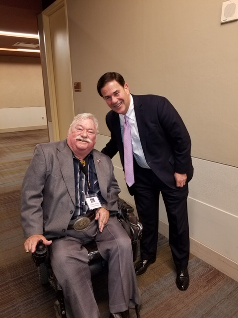Vice Mayor Winters and Governor Doug Ducey.