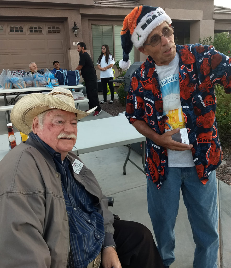 Vice Mayor Winters with residents of the Royal Ranch community at a Halloween block party.