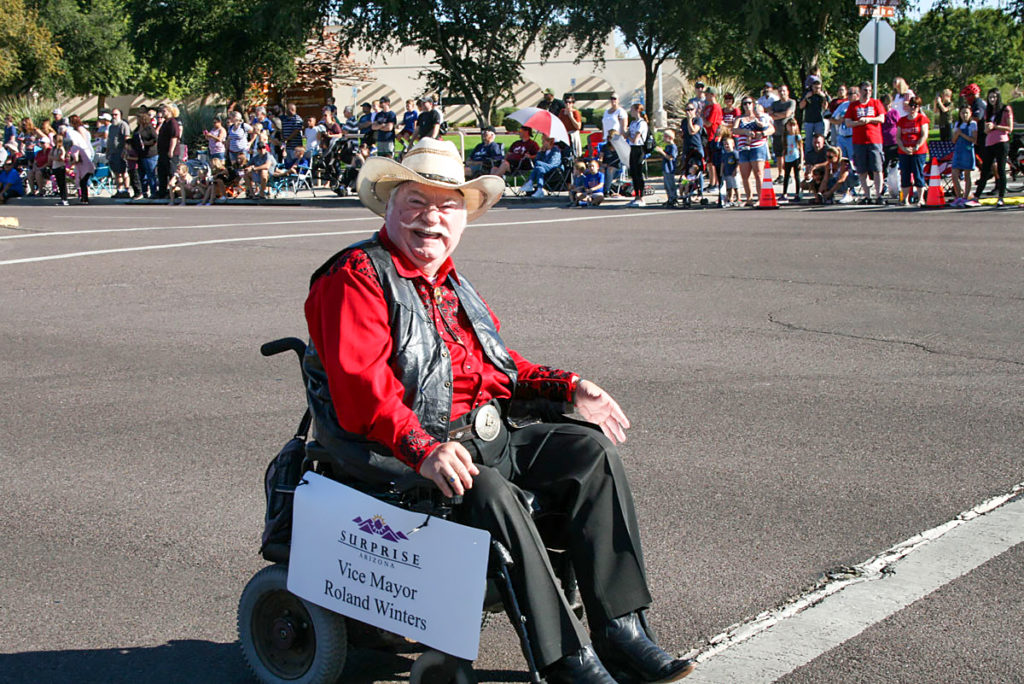 Vice Mayor Winters in the Veterans Day Parade.