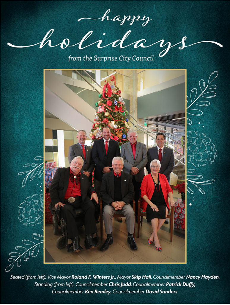 Surprise City Council's holiday card.