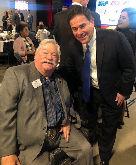 Councilmember Winters and Governor Doug Ducey.