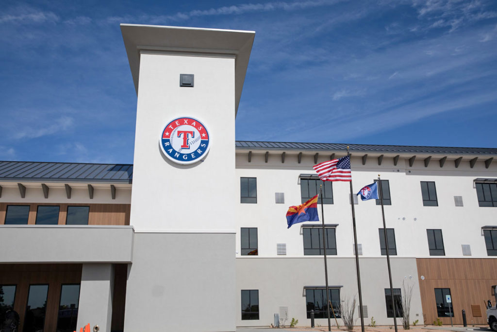 Texas Rangers' player housing facility.