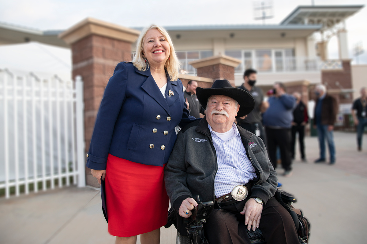 Councilmember Winters and Congress Woman Debbie Lesko at Surprise Stadium.